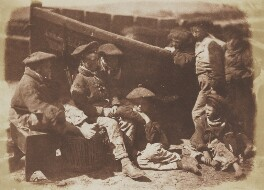 Newhaven Fisher Callants, by David Octavius Hill, and  Robert Adamson - NPG P6(188)