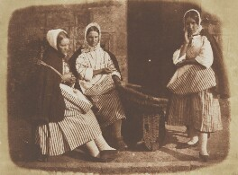 Mrs Logan and two fisherwomen, by David Octavius Hill, and  Robert Adamson - NPG P6(189)