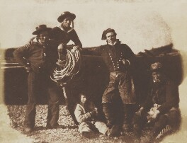 English Yachtmen and Newhaven Fishermen, by David Octavius Hill, and  Robert Adamson - NPG P6(208)