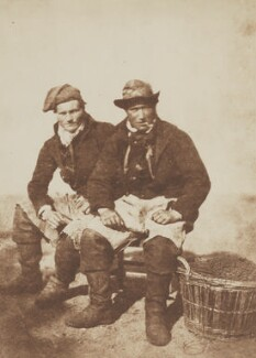 Two Fishermen, by David Octavius Hill, and  Robert Adamson - NPG P6(210)