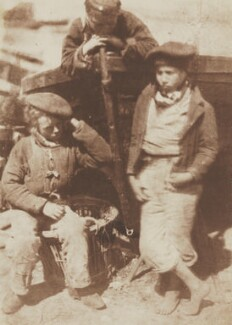 Fisher Laddies (sometimes called 'The Fry'), by David Octavius Hill, and  Robert Adamson - NPG P6(219)