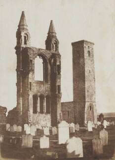 The Cathedral and Tower of St Regulus, St Andrews, by David Octavius Hill, and  Robert Adamson - NPG P6(243)