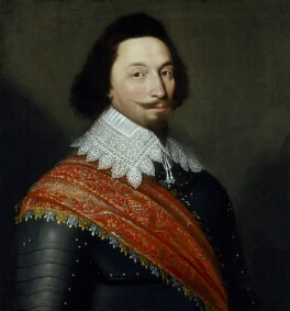 Unknown man, formerly known as George Villiers, 1st Duke of Buckingham, attributed to Cornelius De Neve, 1627 - NPG  - © National Portrait Gallery, London