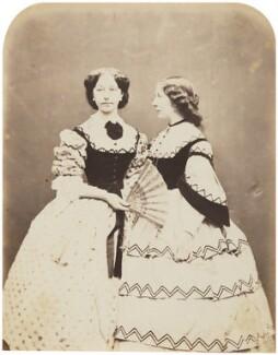 Catherine ('Katey') Elizabeth Macready Perugini (née Dickens); Mamie Dickens, by Herbert Watkins - NPG P301(72)