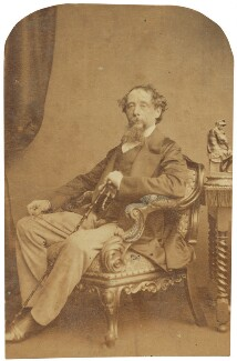 Charles Dickens, by (George) Herbert Watkins, late 1850s - NPG P301(184d) - © National Portrait Gallery, London