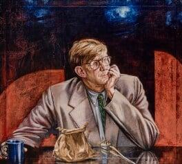 Alan Bennett, by Tom Wood, 1993 - NPG 6186 - © National Portrait Gallery, London