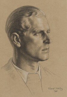 Prince Philip, Duke of Edinburgh, by Edward Irvine Halliday - NPG 6239
