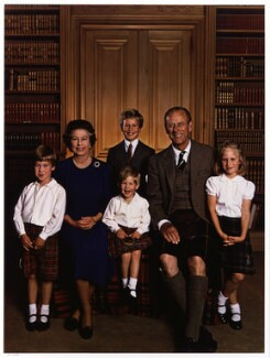 'Queen Elizabeth II and Prince Philip with their grandchildren', by Yousuf Karsh - NPG P543