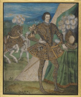 Robert Devereux, 2nd Earl of Essex, attributed to studio of Nicholas Hilliard, circa 1595 - NPG  - © National Portrait Gallery, London