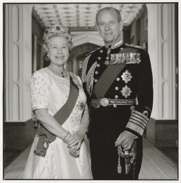 Queen Elizabeth II; Prince Philip, Duke of Edinburgh, by Terry O'Neill - NPG P551