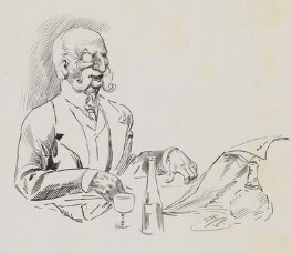 Joseph Ashby-Sterry, by Harry Furniss,  - NPG  - © National Portrait Gallery, London