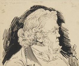 William Makepeace Thackeray, by Harry Furniss,  - NPG 6251(61) - © National Portrait Gallery, London