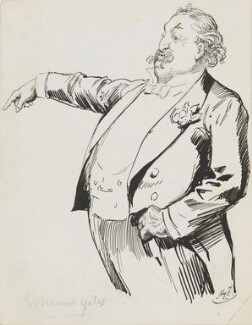 Edmund Hodgson Yates, by Harry Furniss - NPG 6251(69)