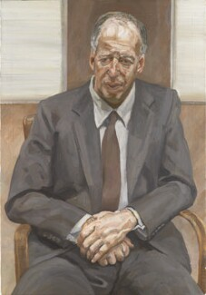 Jacob Rothschild, 4th Baron Rothschild ('Man in a Chair'), by Lucian Freud - NPG L201