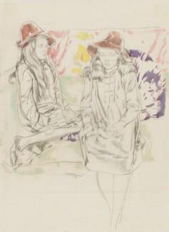 E.Q. Nicholson; Eveleen ('Eve') Clarke (née Myers), by Frank Owen Dobson - NPG 6314