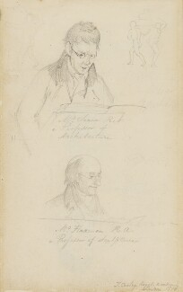 Sir John Soane; John Flaxman, by Thomas Cooley, 1810 - NPG 4913b - © National Portrait Gallery, London