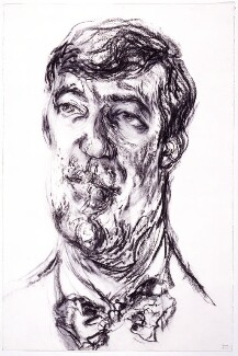 Stephen Fry, by Maggi Hambling, 1993 - NPG  - © National Portrait Gallery, London