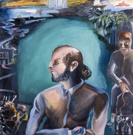 Salman Rushdie ('The Moor'), by Bhupen Khakhar - NPG 6352