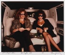 Jackie Collins; Joan Collins, by Annie Leibovitz - NPG P623