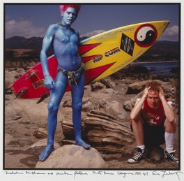 Christian Fletcher; Malcolm McLaren, by Annie Leibovitz - NPG P629