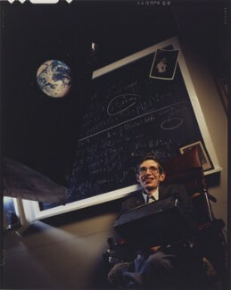 Stephen Hawking, by David Gamble - NPG P632