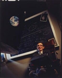 Stephen Hawking, by David Gamble, 1988 - NPG P632 - © David Gamble