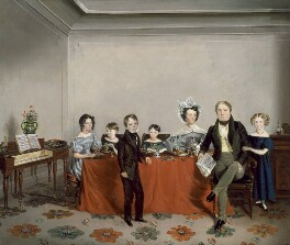 Stanley Lees Giffard and his family, by Unknown artist - NPG 6367