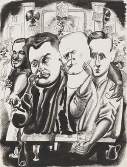 The Critics, by Edward Burra - NPG 6370