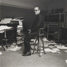 Michael Nyman, by Neil Drabble - NPG P661