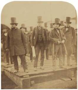 Isambard Kingdom Brunel preparing the launch of 'The Great Eastern' (also includes possibly Ned Hepworth; possibly William Jacomb; Solomon Tredwell), by Robert Howlett - NPG P663