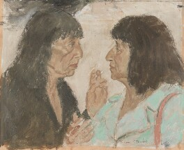 Dame Beryl Bainbridge; Bernice Rubens, by Gordon Stuart - NPG 6409