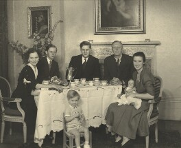 Sir David Victor Kelly and his family, by Elliott & Fry - NPG x90094