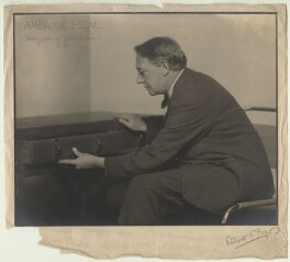 Sir Ambrose Heal, by Walter Benington, for  Elliott & Fry - NPG x91145
