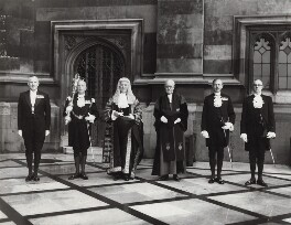 'Speaker's Procession' (group including Sir Harry Braustyn Hylton Hylton-Foster), by Elliott & Fry - NPG x91949