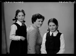 Sophie (née Levene), Lady George-Brown; Frieda Mary George-Brown; Patricia Janet George-Brown, by Elliott & Fry - NPG x99182