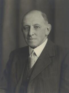 Sir Sidney Solomon Abrahams, by Walter Stoneman - NPG x163398