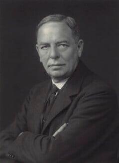 Sir Maurice Sheldon Amos, by Walter Stoneman, 1930 - NPG x163589 - © National Portrait Gallery, London