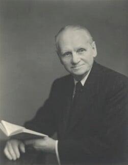Sir (Ralph) Norman Angell (né Ralph Norman Angell Lane), by Walter Stoneman, 1954 - NPG x163626 - © National Portrait Gallery, London