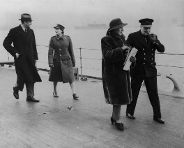 William Averell Harriman; Mary (née Spencer-Churchill), Baroness Soames; Kathleen Hill (née Spratt); Winston Churchill, copied by Walter Stoneman, for  Unknown photographer - NPG x164156