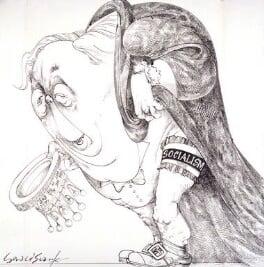 Harold Wilson, by Gerald Scarfe - NPG 6432