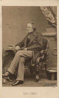 Edward Stanley, 14th Earl of Derby, by John Jabez Edwin Mayall, 1861 - NPG Ax16244 - © National Portrait Gallery, London