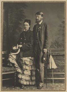 Theodore Belfare and an unknown woman, by Elliott & Fry - NPG x127408