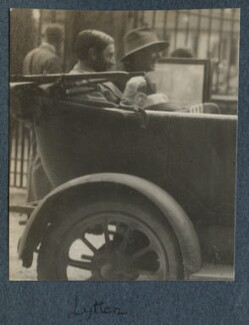 Lytton Strachey and an unknown sitter, by Lady Ottoline Morrell - NPG Ax142602