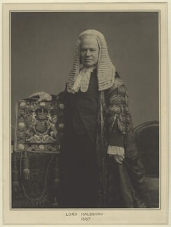 Hardinge Stanley Giffard, 1st Earl of Halsbury, by Elliott & Fry, 1887 - NPG x127436 - © National Portrait Gallery, London