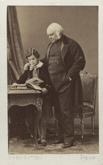 Victor Alexander Bruce, 9th Earl of Elgin; James Bruce, 8th Earl of Elgin, by Disdéri, early 1860s - NPG Ax16257 - © National Portrait Gallery, London