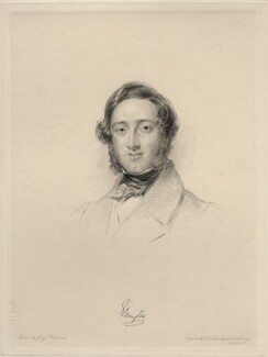 Hugh Fortescue, 3rd Earl Fortescue, by Frederick Christian Lewis Sr, after  George Richmond - NPG D20658