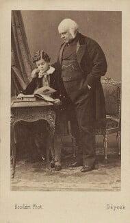 Victor Alexander Bruce, 9th Earl of Elgin; James Bruce, 8th Earl of Elgin, by Disdéri, early 1860s - NPG Ax16258 - © National Portrait Gallery, London