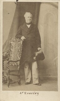 Charles Shaw-Lefevre, Viscount Eversley, by Caldesi, Blanford & Co, early 1860s - NPG Ax16263 - © National Portrait Gallery, London
