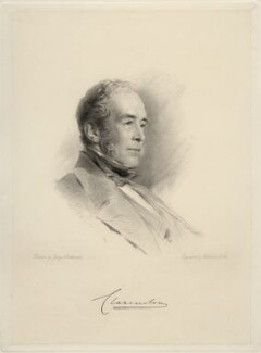 George William Frederick Villiers, 4th Earl of Clarendon, by William Holl Jr, after  George Richmond - NPG D20659