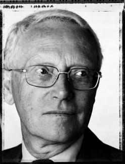 (David) Geoffrey Nigel Filkin, Baron Filkin, by David Partner - NPG x127368